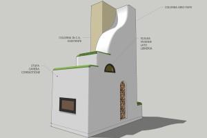concept schema vista dall' ingresso
