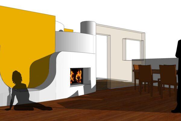concept design lato soggiorno
