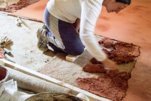 costruzione finitura pavimento Tataki