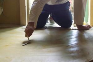 finitura pavimento Tataki giallo