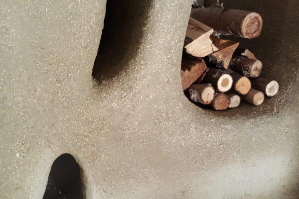 dettaglio legnaie e tana del topo in terracanapa