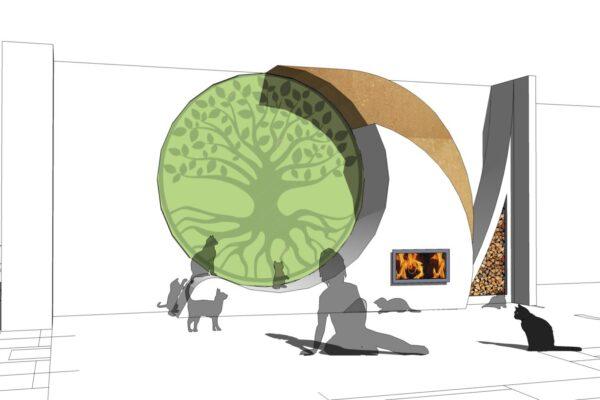 concept piano terra prospettiva