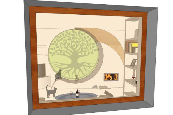 concept  vista  dalla finestra