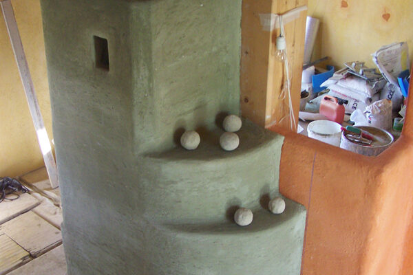 work in progress intonaco in terra cruda