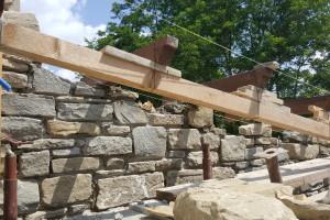 costruzione pensilina legnaia