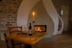 salone con stube e scacchi