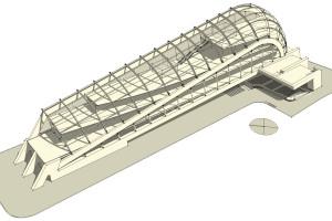 concept struttura in legno lamellare
