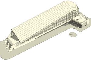 concept copertura chiglia isolata in balle di paglia