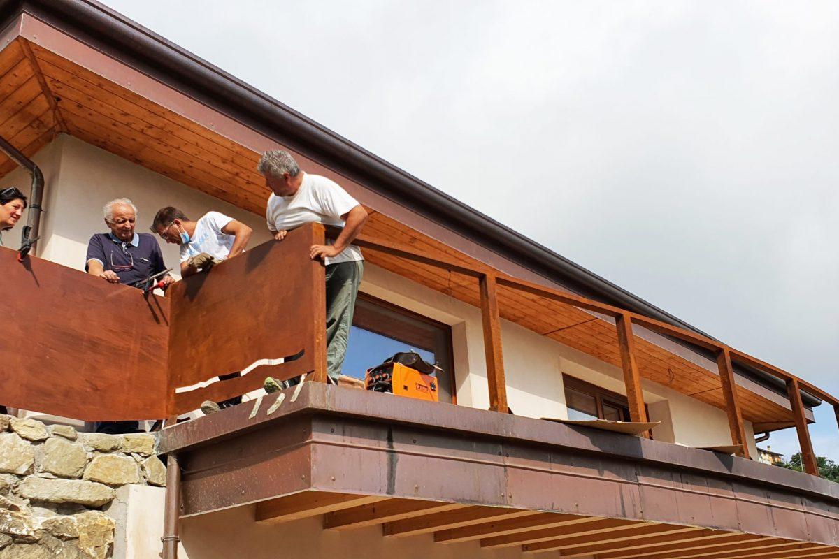 casa di paglia panoramica